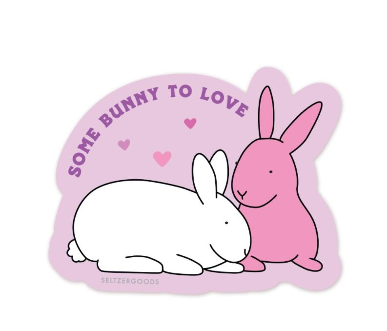 Seltzer Bunny to Love Sticker