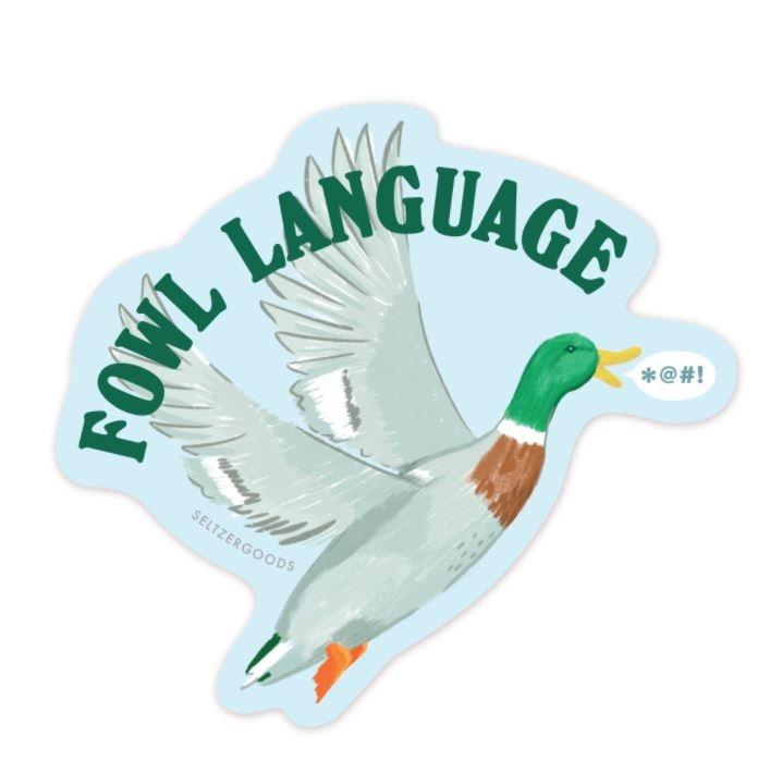 Seltzer Fowl Language Sticker