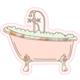 Talking Out of Turn Sticker - Bubble Bath