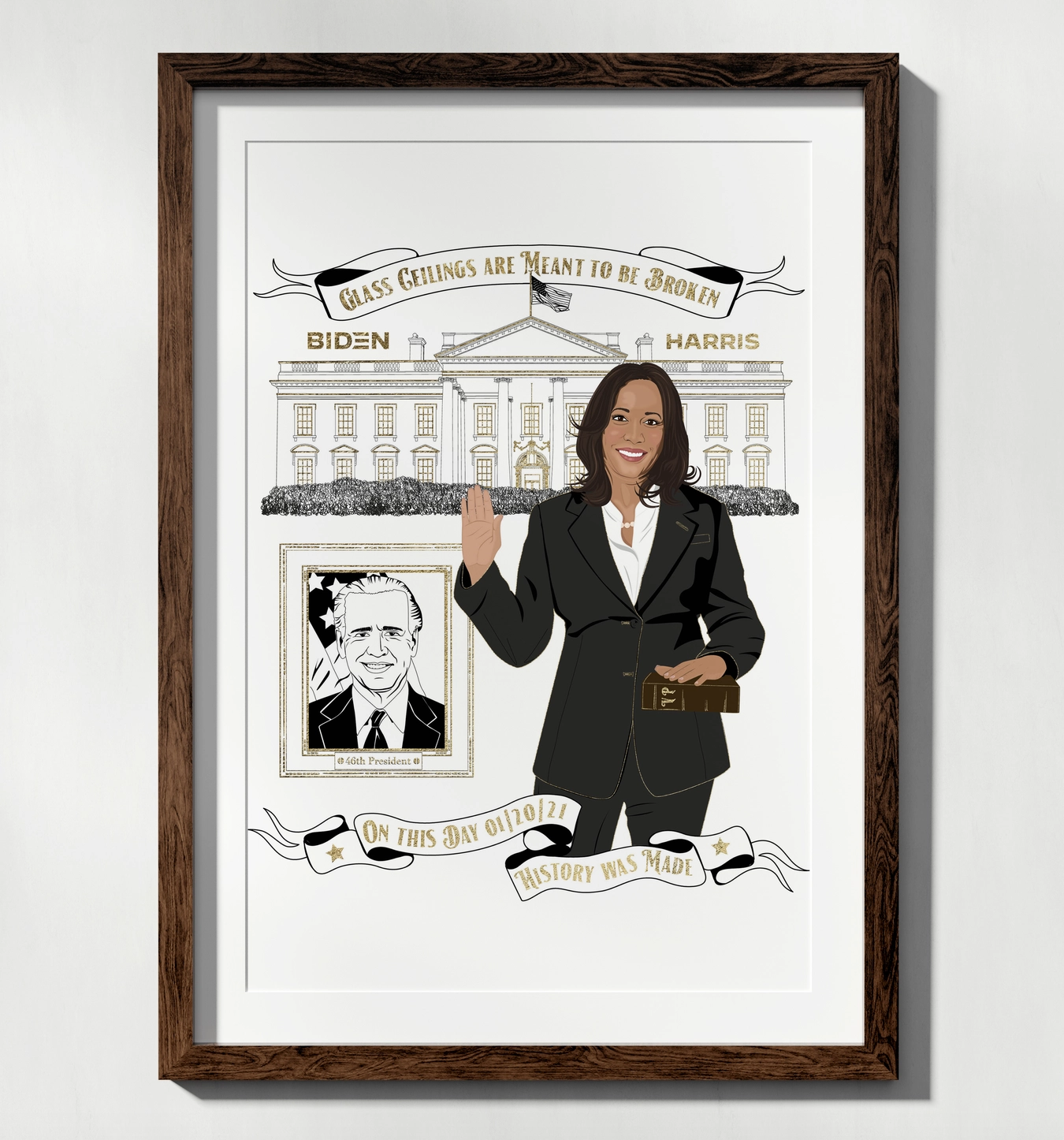 Citizen Ruth 2021 Inaugural Print (History is Made)-FINAL SALE