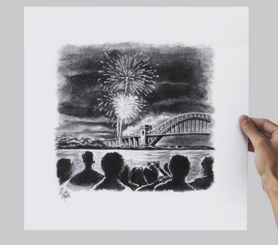 AJ the Awful Hellgate Fireworks Print