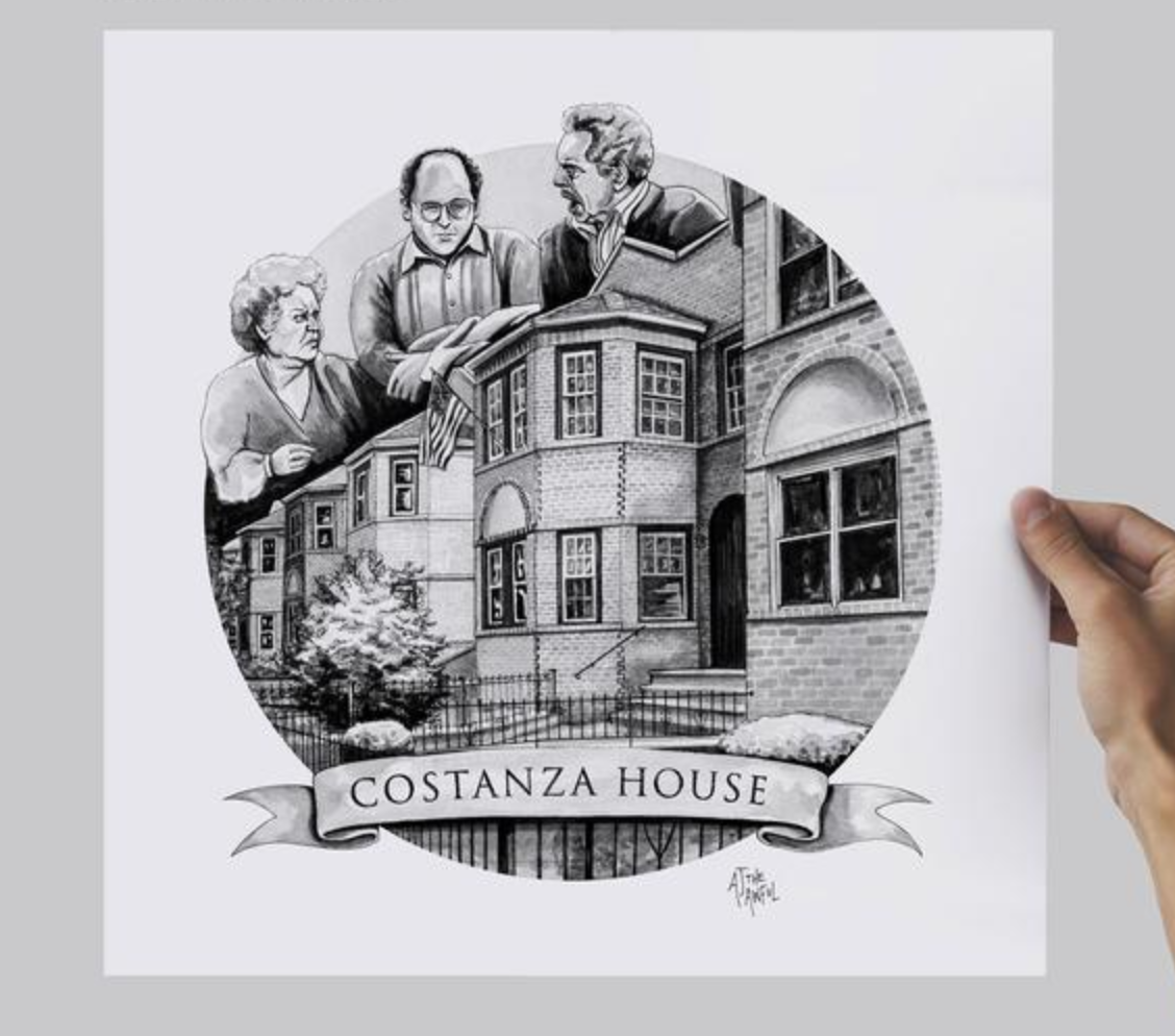 AJ the Awful Costanza House Print