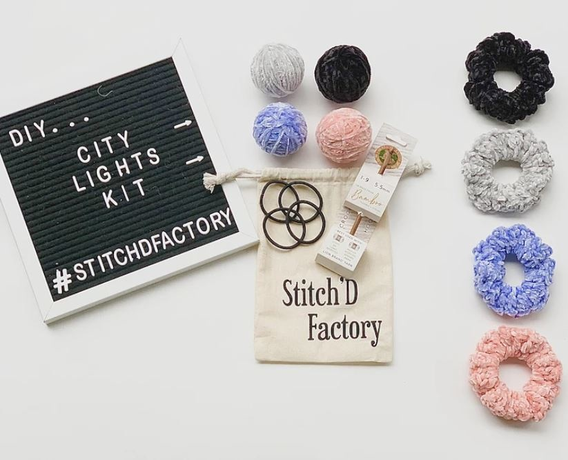 Stitch'D Factory DIY Scrunchie Kit - FINAL SALE