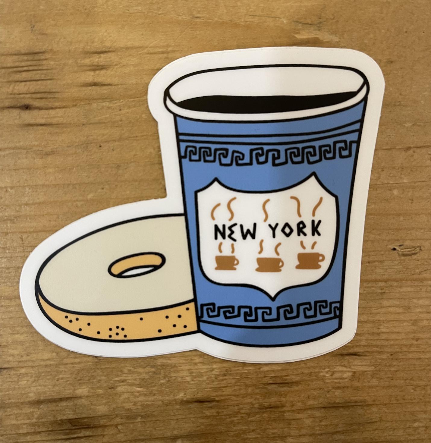 Seltzer City Stickers - NYC Coffee