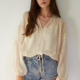 By Together Woven Chiffon Button Up-Ivory