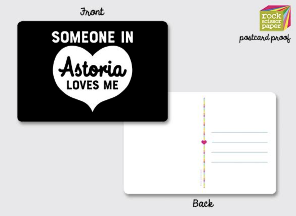 Rock Scissor Paper Postcards-Astoria Heart