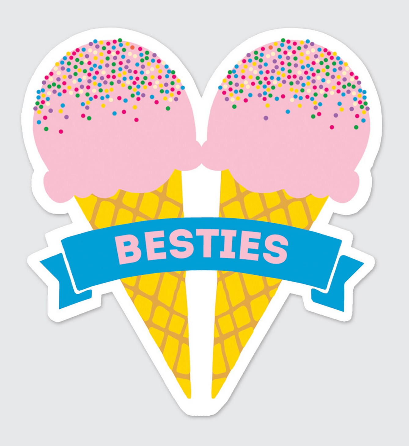 Rock Scissor Paper Sticker- Besties Ice Cream