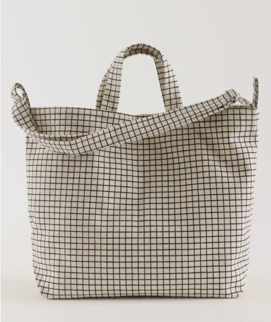 Baggu Horizontal Duck Bag - Natural Grid