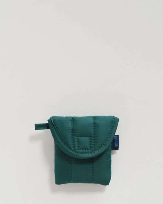 Baggu Puffy Earbud Case-Malachite