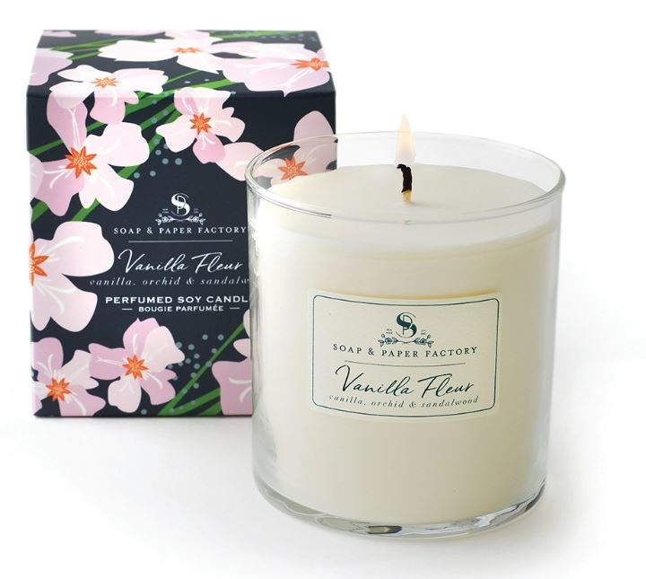 Soap & Paper Factory Vanilla Fleur Single-Wick Soy Candle
