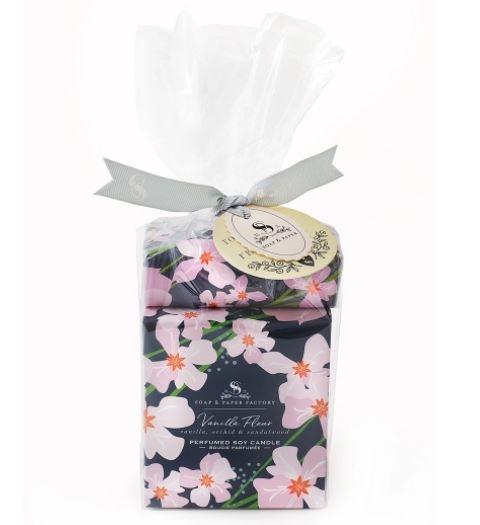 Soap & Paper Factory Vanilla Fleur Large Candle & Soap Gift Set