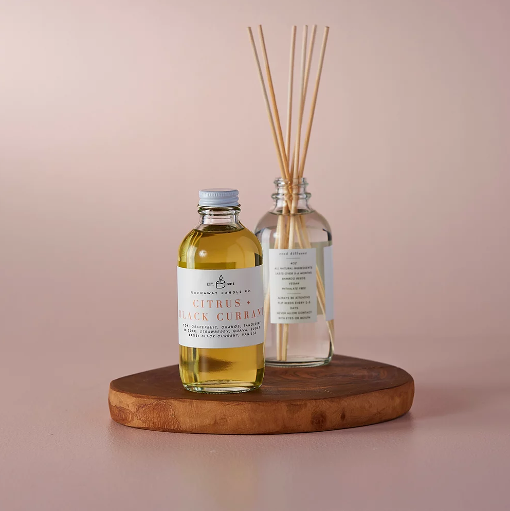 Rockaway Candle Co Reed Diffuser - Citrus and Black Currant