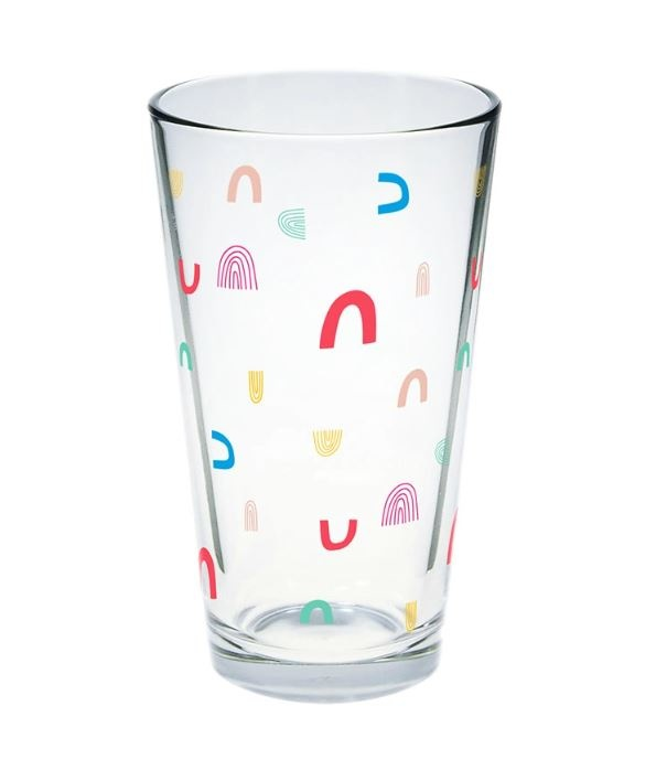 Talking Out of Turn Individual Pint Glass-Colorful Rainbows