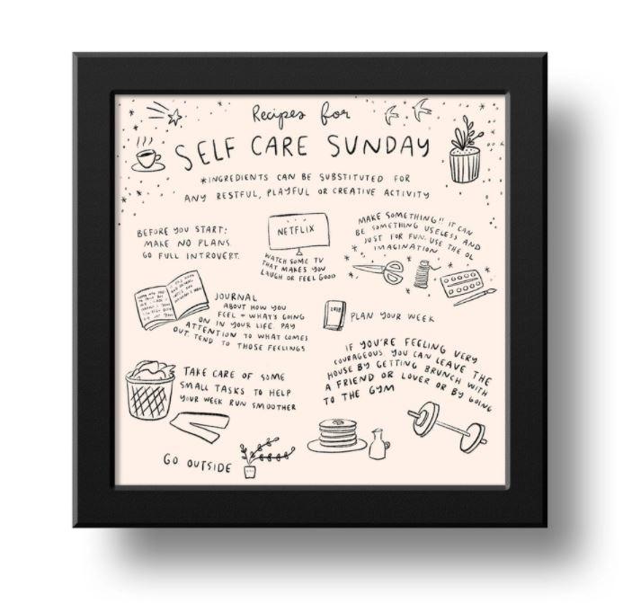 Abbie Paulhus Self Care Print
