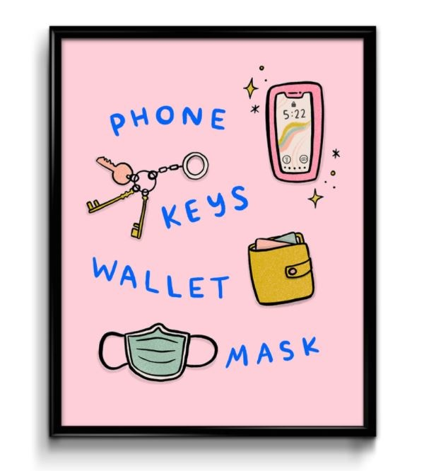 Abbie Paulhus Phone Keys Wallet Mask Print