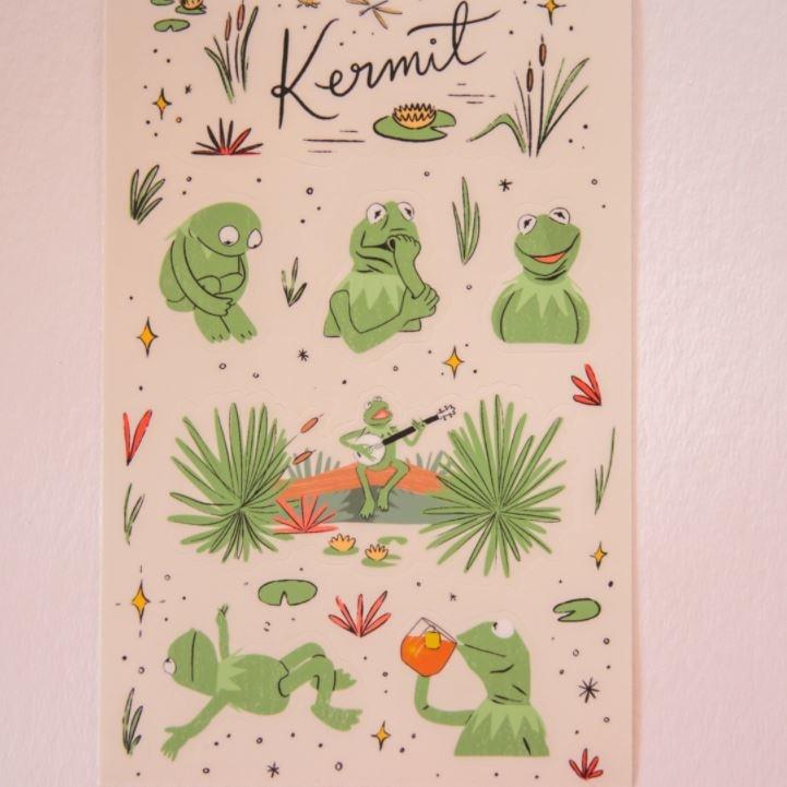 Abbie Paulhus Kermit Sticker Sheet
