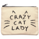 Mulberry & Grand Crazy Cat Lady Canvas Pouch