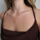 Ornamental Things Gold Snake Necklace