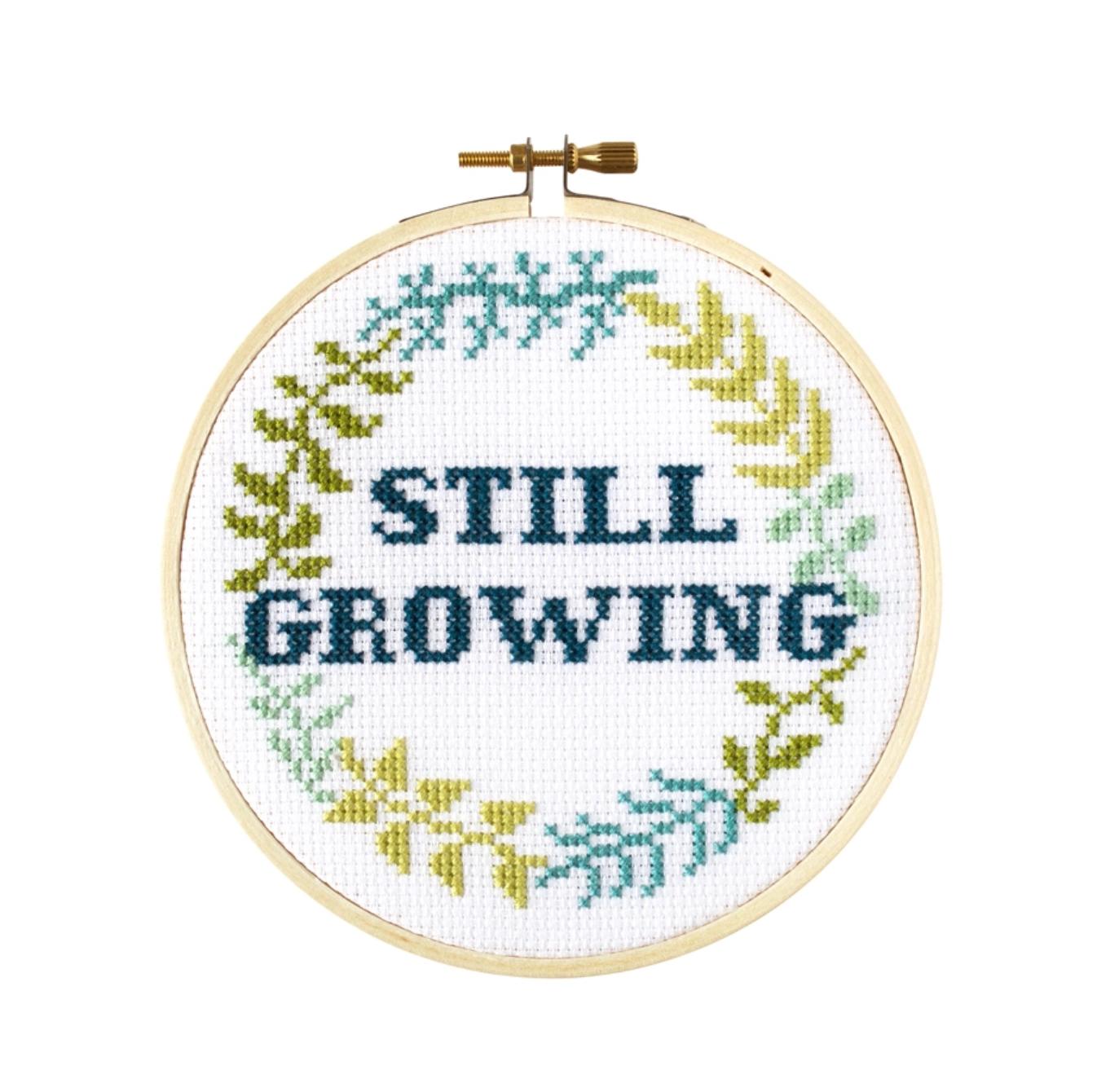 The Stranded Stitch Still Growing DIY Cross Stitch Kit