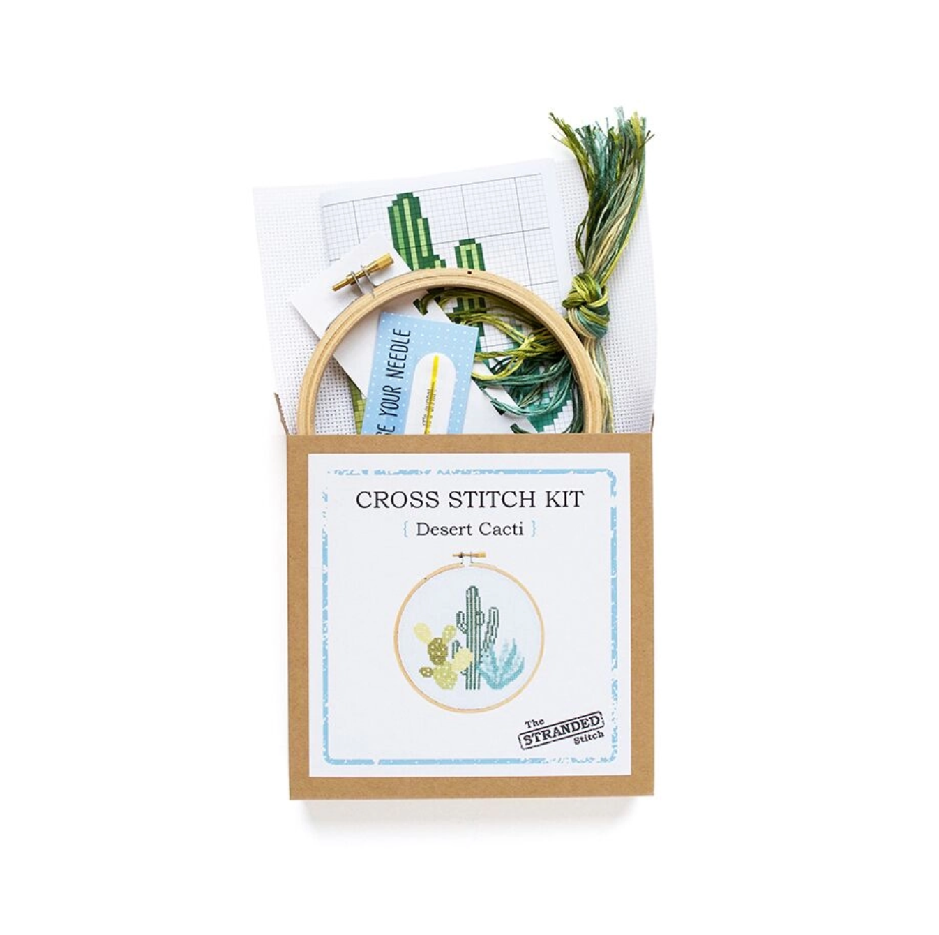 The Stranded Stitch Desert Cacti Cross Stitch Kit