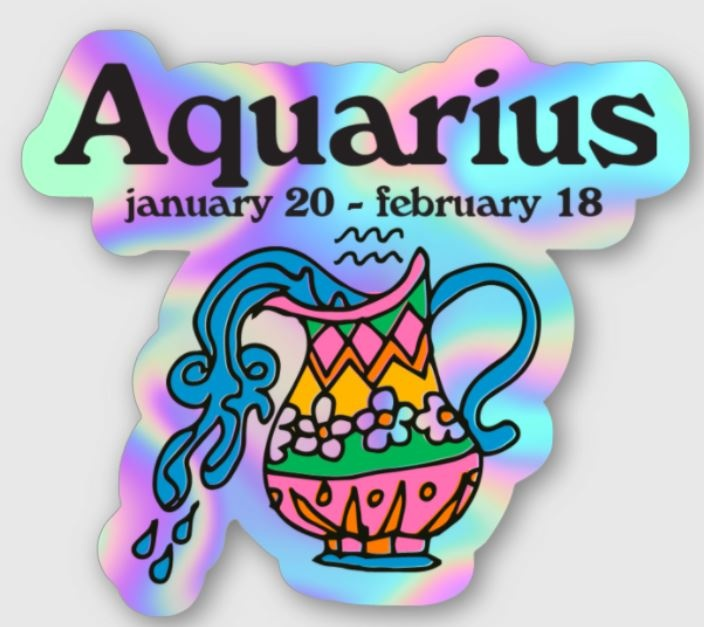 Ash + Chess ZODIAC - Aquarius Sticker