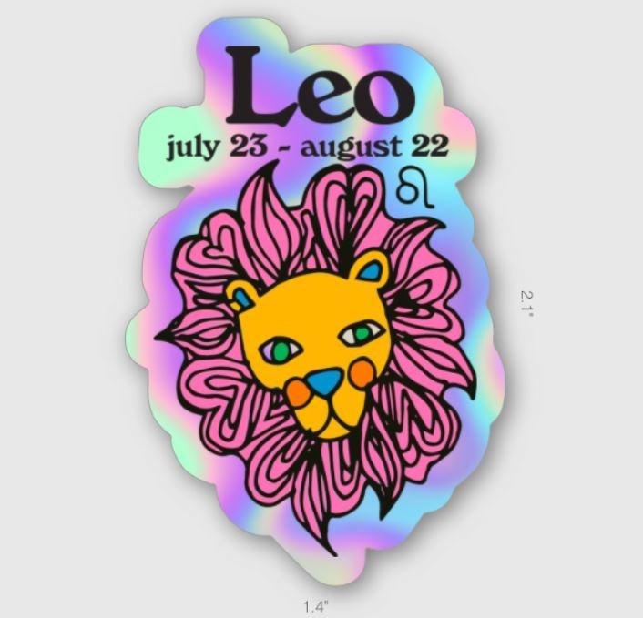 Ash + Chess ZODIAC - Leo Sticker