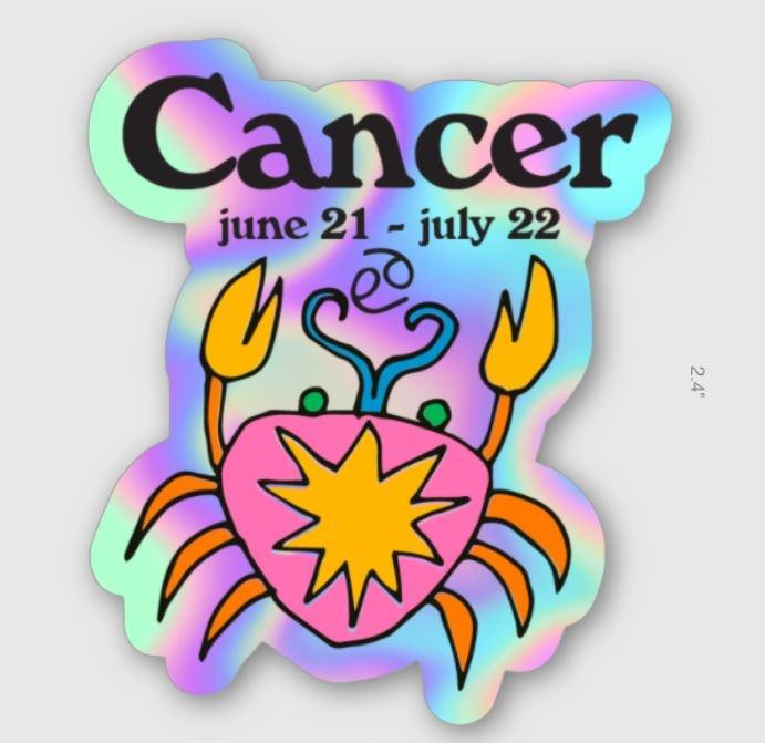 Ash + Chess ZODIAC - Cancer Sticker