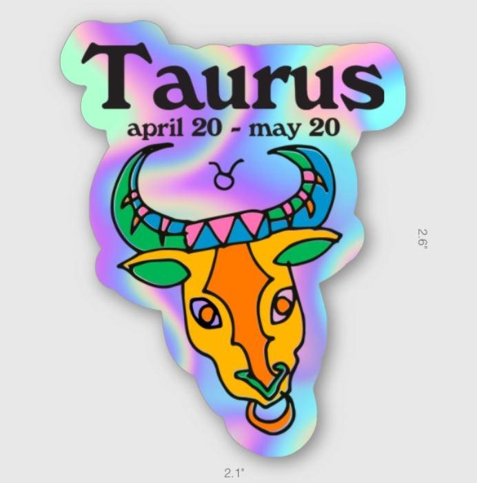 Ash + Chess ZODIAC - Taurus Sticker