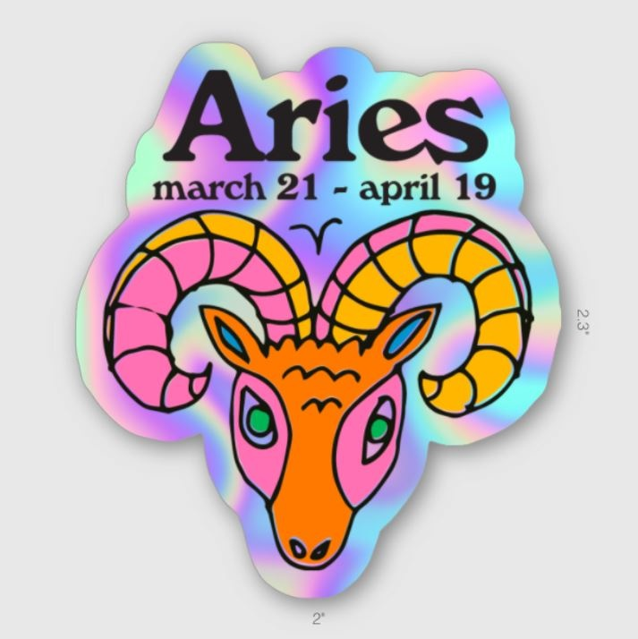 Ash + Chess ZODIAC - Aries Sticker