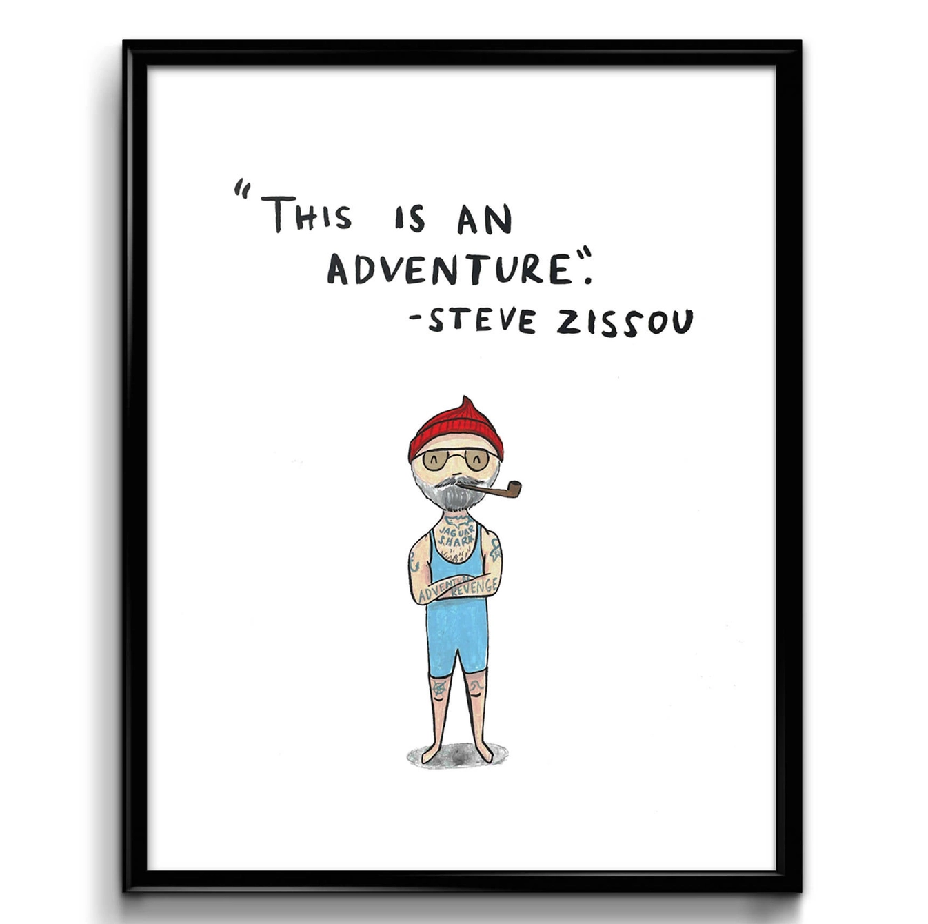 Abbie Paulhus Steve Zissou Art Print