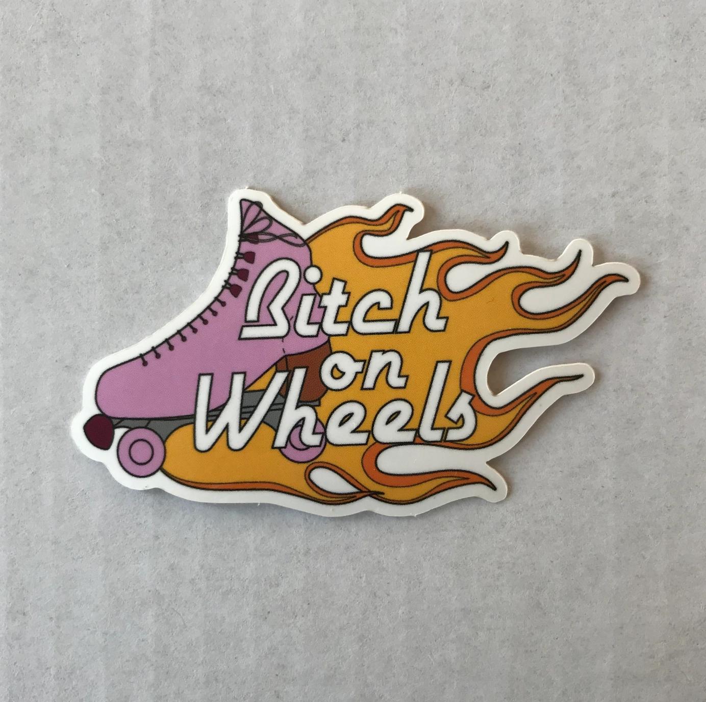 Jini and Tonic Bitch on Wheels Sticker