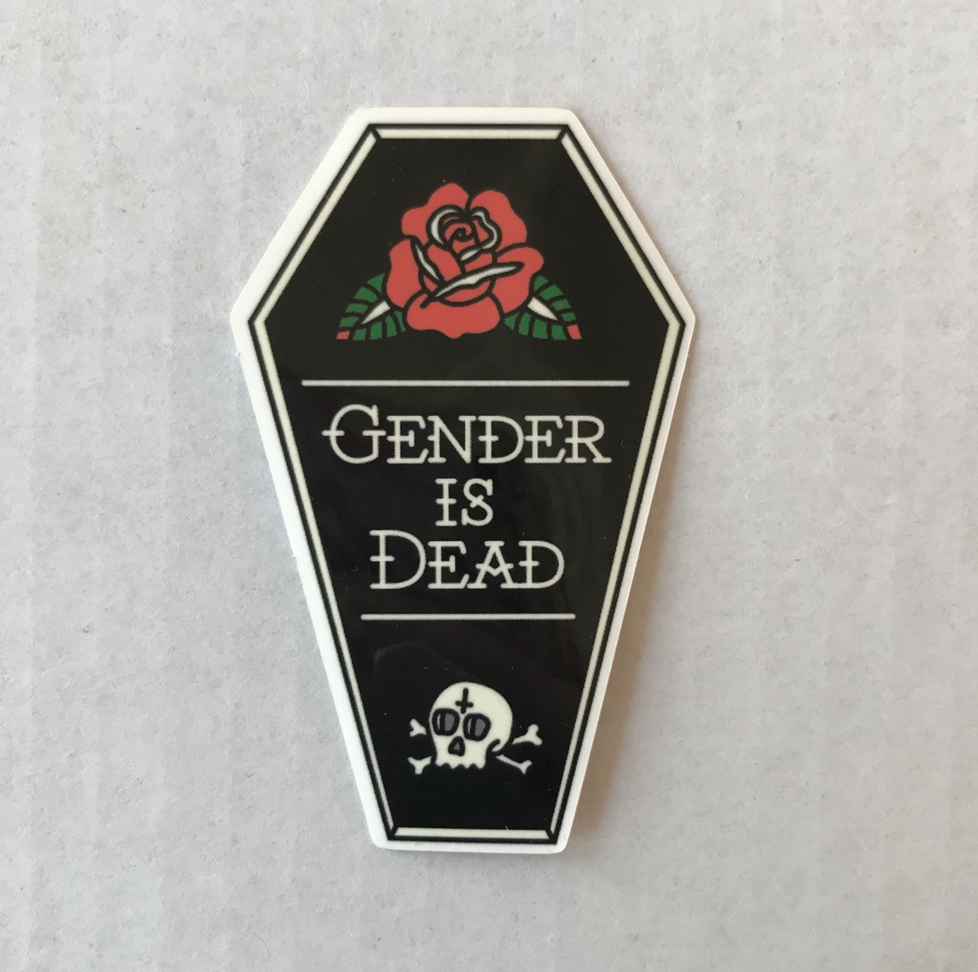 Jini and Tonic Gender is Dead Sticker