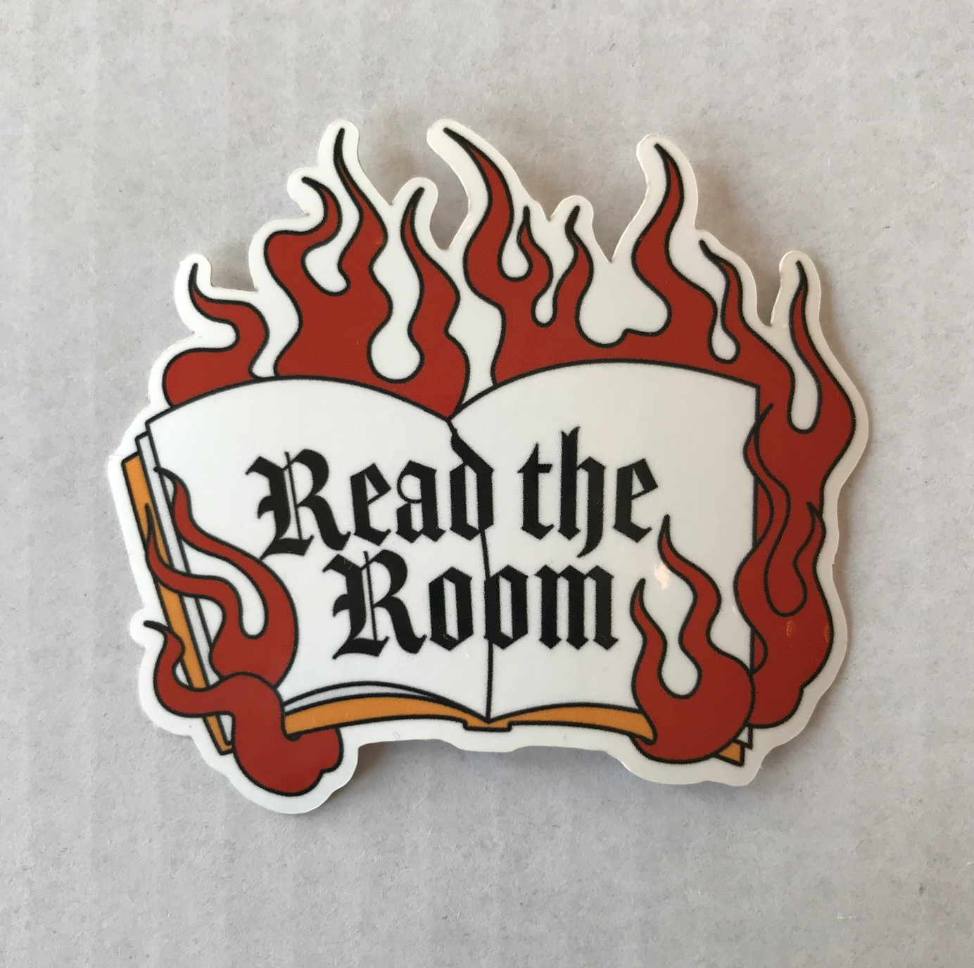 Jini and Tonic Read The Room Sticker
