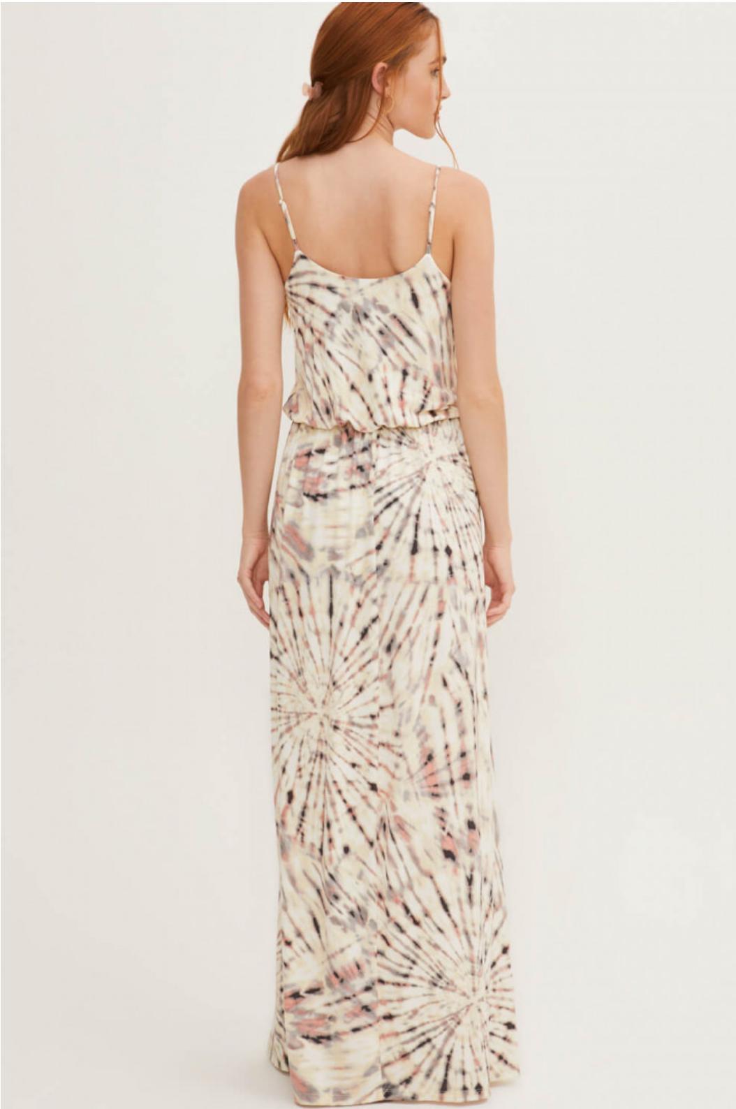 Lush Tie Dye Maxi Dress-Coral
