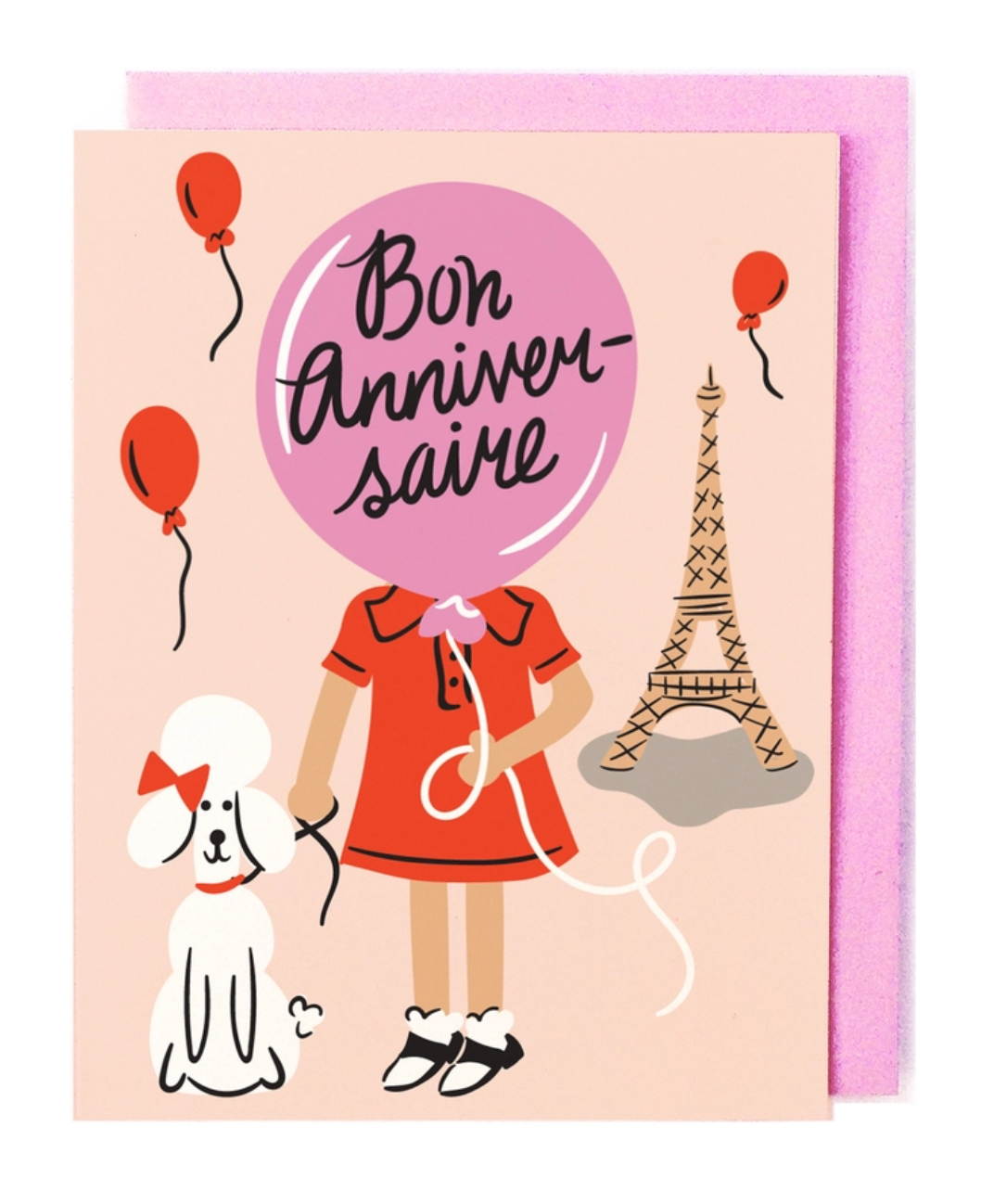 Little Low Studio French Birthday Card