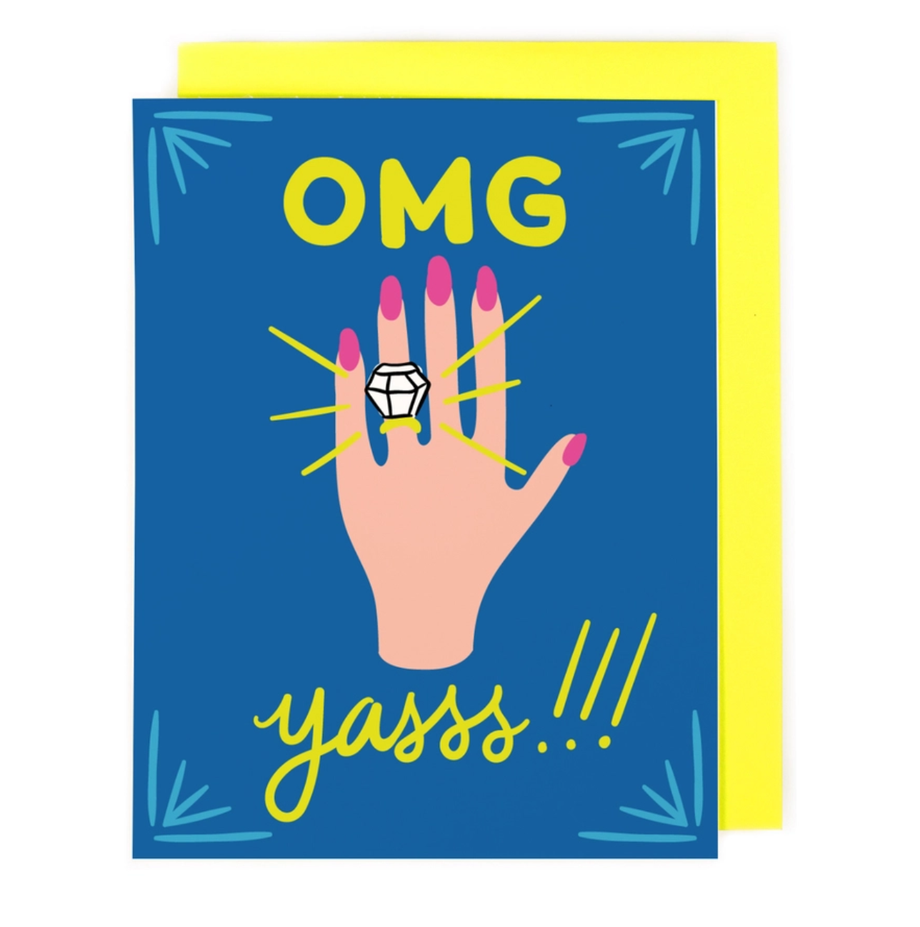Little Low Studio OMG Engaged Card