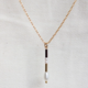Yam Pearl Bar Necklace