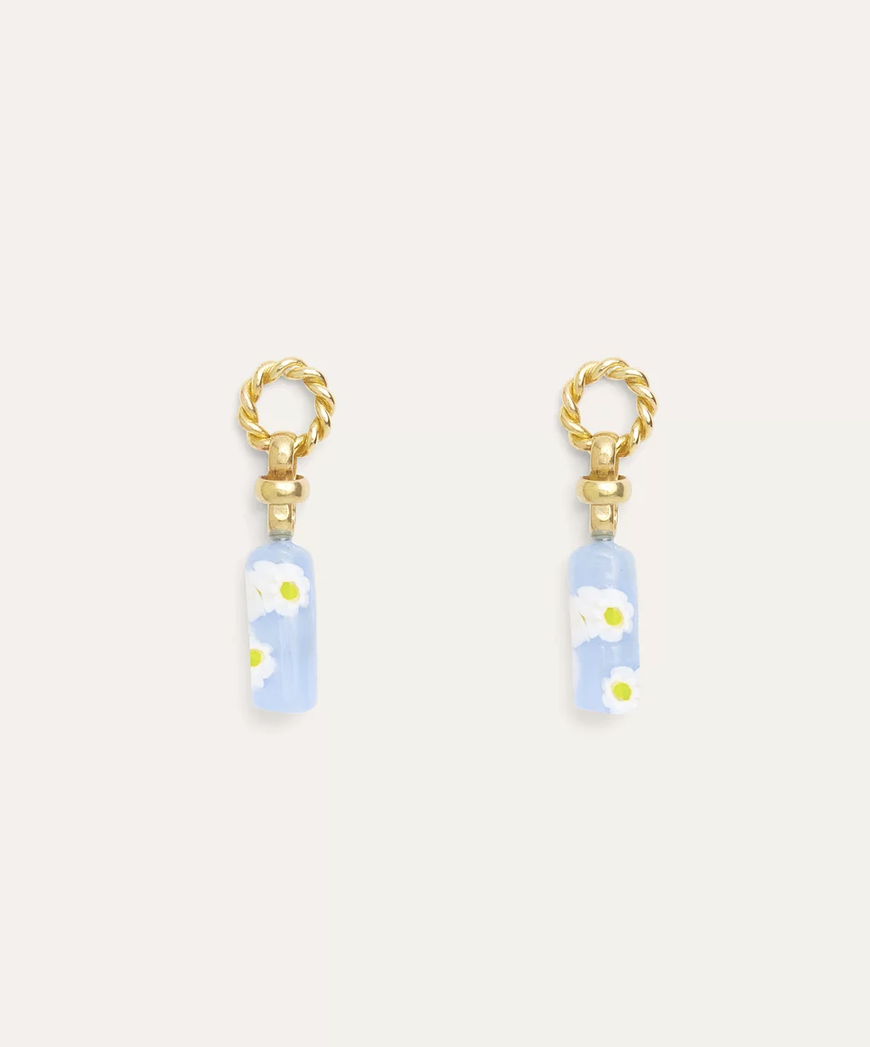 Yam Posy Earring-BLUE