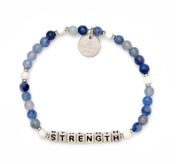 Little Words Project Silver-STRENGTH-Blue Stone