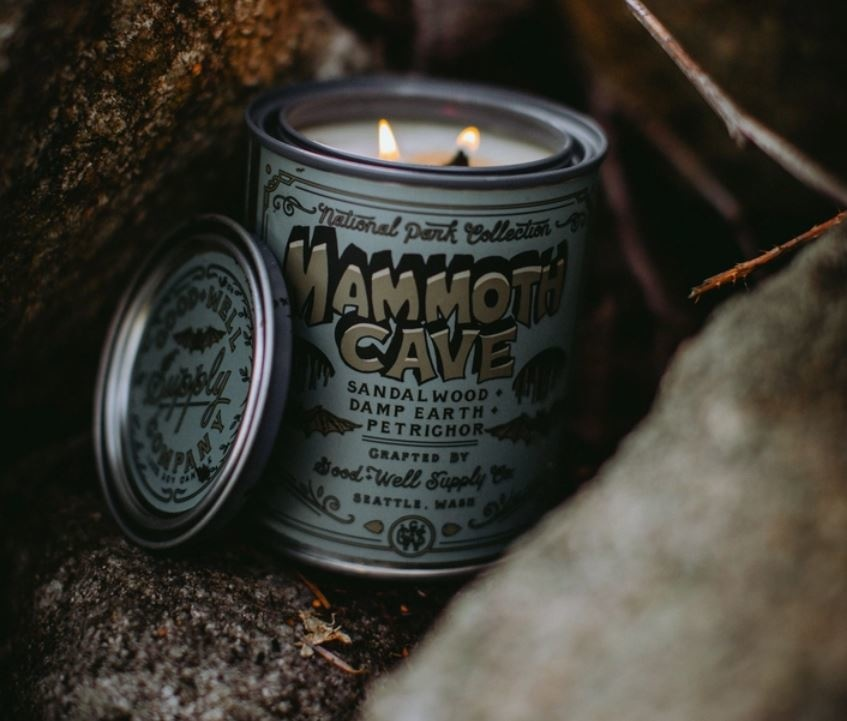 Good & Well Supply Mammoth Cave Candle - Sandalwood, Damp Earth & Petrichor