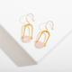 Larissa Loden Teara Earrings Rose Quartz