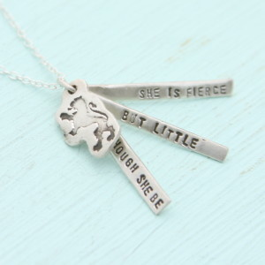 Chocolate and Steel Quotes Shakespeare Necklace - Silver