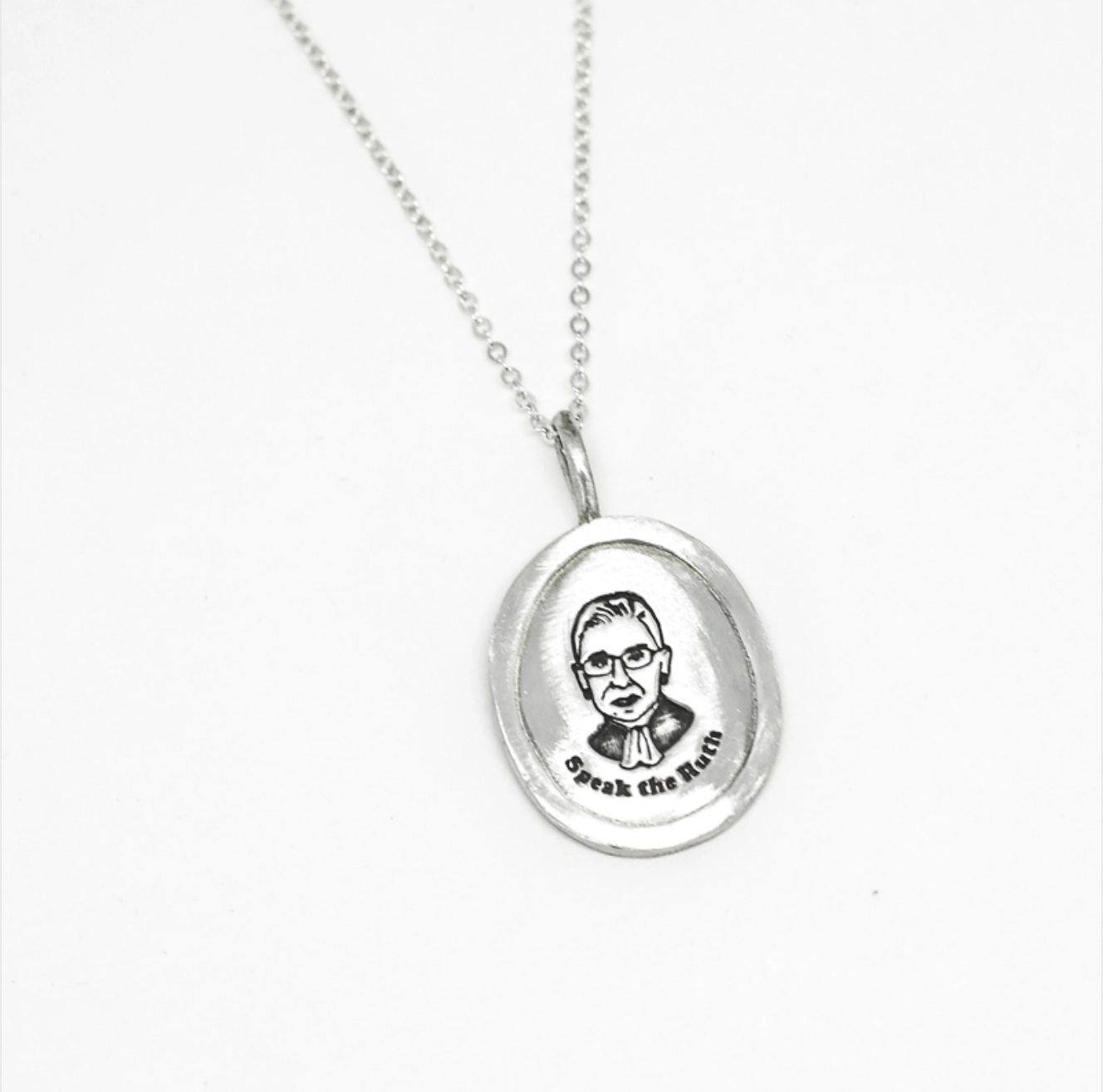 Chocolate and Steel RBG Pendant Necklace
