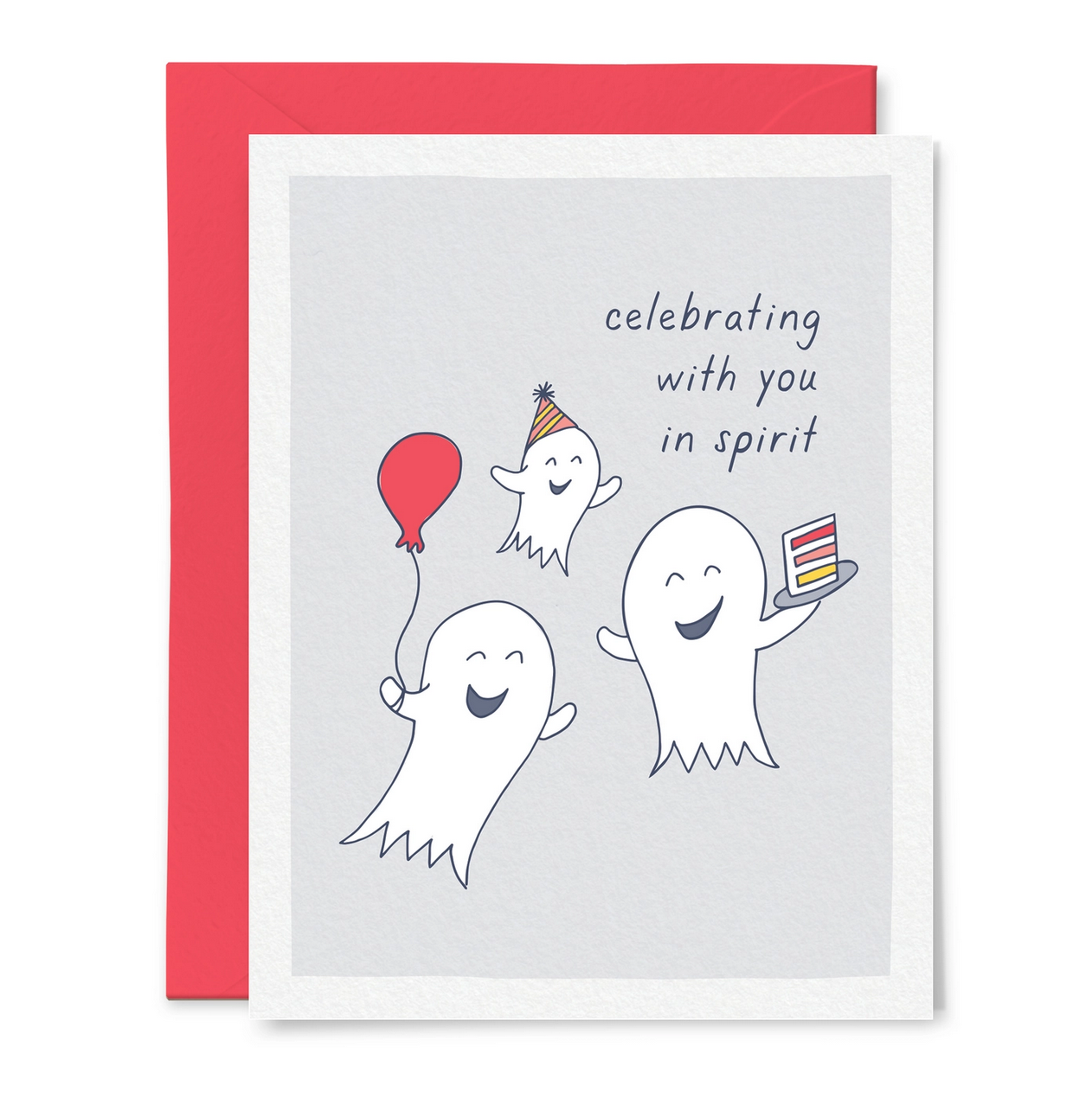 Little Goat Celebrating with You in Spirit Birthday Card