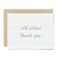 Little Goat Old School Thank You Card
