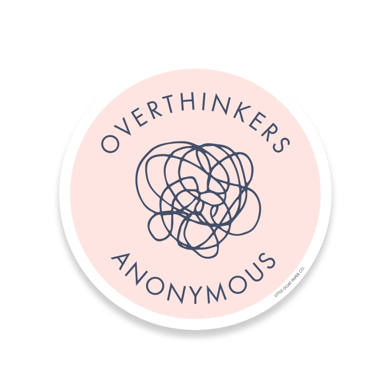 Little Goat Overthinkers Anonymous Sticker