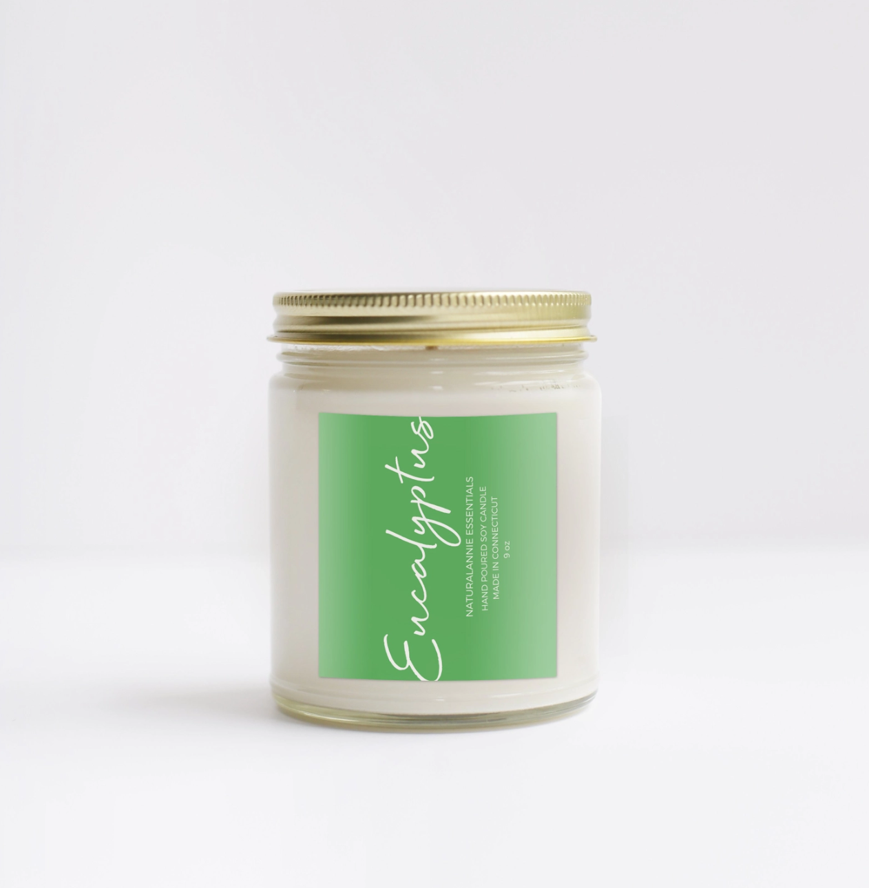 NaturalAnnie Essentials EUCALYPTUS Scented Soy Candle