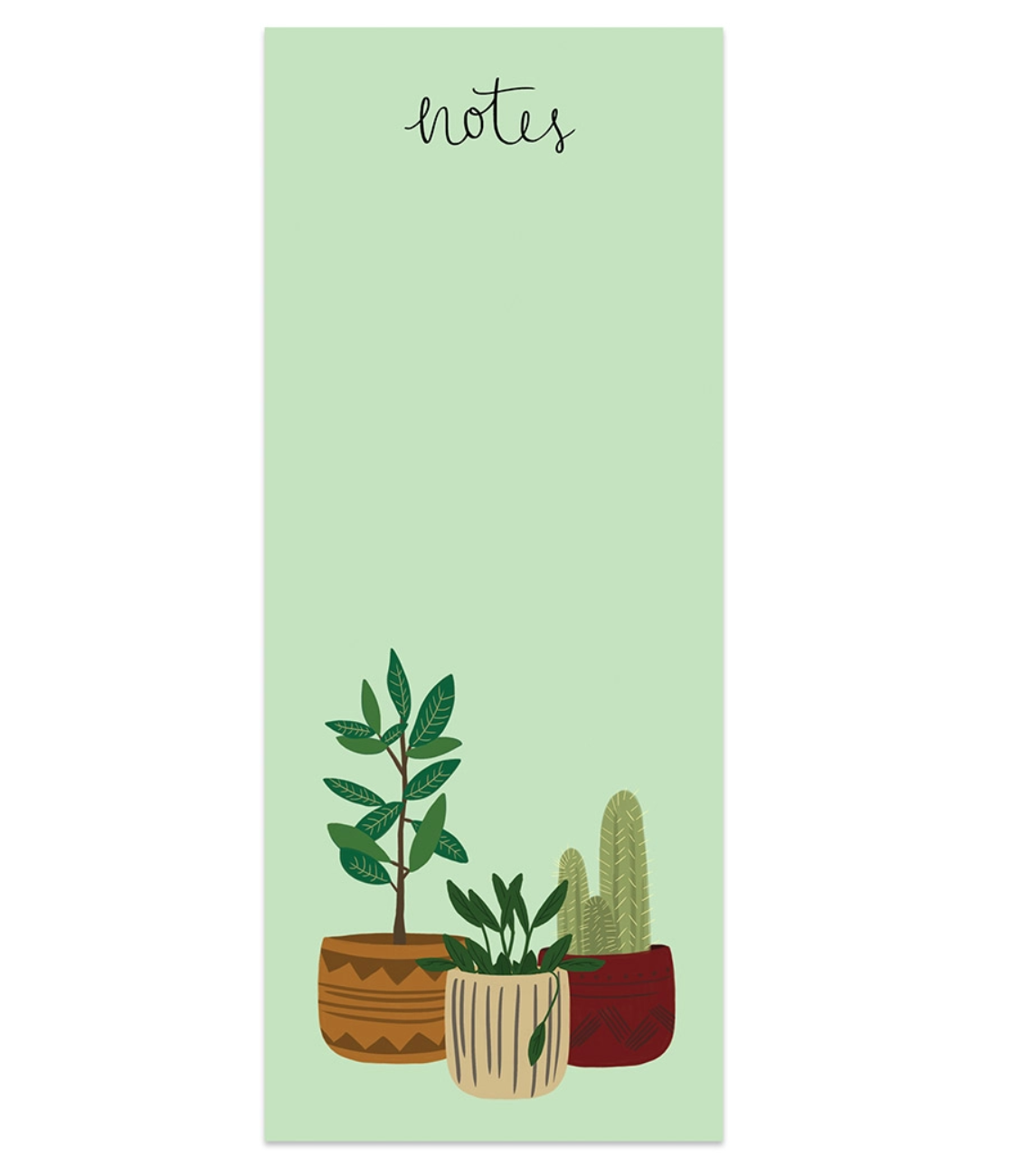 Bloomwolf Studio Potted Plants Notes Notepad