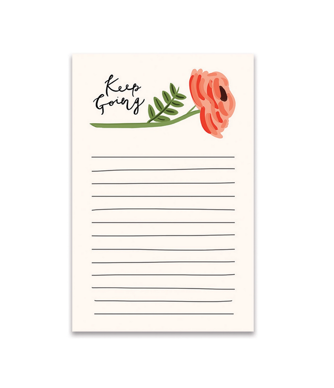 Bloomwolf Studio Keep Going Notes Notepad