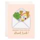 Bloomwolf Studio Sending Luck Greeting Card